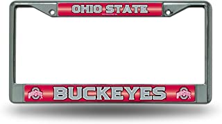 NCAA Bling Chrome License Plate Frame with Glitter Accent