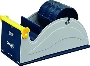 T.R.U. ET-337 Blue/Grey Premium Multi-Roll Steel Desk Top Tape Dispenser: 3 in. Wide (3 in. core)