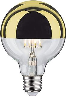 Paulmann 28675 lámpara LED filamento G95 6vatios Bombilla cúpula Espejo Oro 2700 K Blanco cálido Regulable E27, 6.5 W, Kopfspiegeld Gold