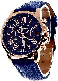 Geneva Platinum Analog Blue Dial Women's Watch (GP-083)