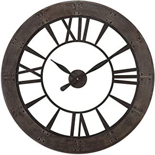 Uttermost 06085 Ronan Wall Clock, Brown