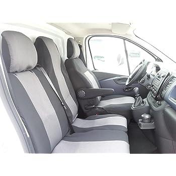 2010 Front 1+2 Grau Schonbezug Auto Bezug Autositzbezüge für Renault Master