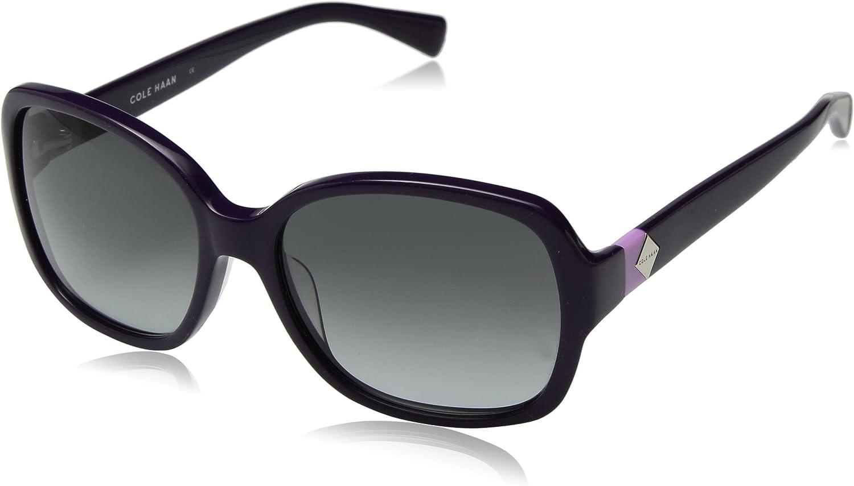 Cole Haan Women's Ch7001 Plastic Butterfly Cateye Sunglasses, 56 mm