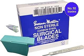 Swann Morton No.10 Scalpel Blades 100-count Box, No.3 Handle, Blade Remover Box & Reusable Safety Cap