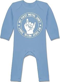 Shirtracer Strampler Motive - My First Metal Shirt - Baby-Body Langarm für Jungen und Mädchen