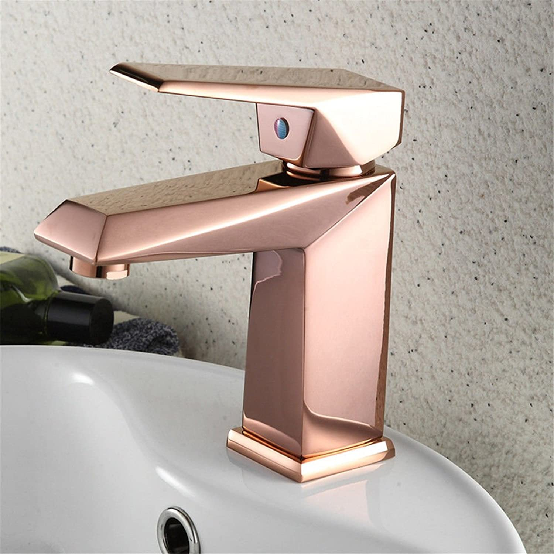 Hlluya Professional Sink Mixer Tap Kitchen Faucet pink gold faucet basin faucet basin mixer
