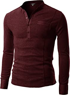 COOFANDY Men's Slim Fit Henley Shirt Long Sleeve Casual Cotton T Shirts