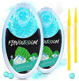 Flavouroom - Premium menthol capsules 200-delige set | DIY mentholfilter voor onvergetelijke smaak | incl. box voor het be...
