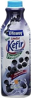 Lifeway Lowfat Kefir, Blueberry, 32 Ounce (Pack of 06)