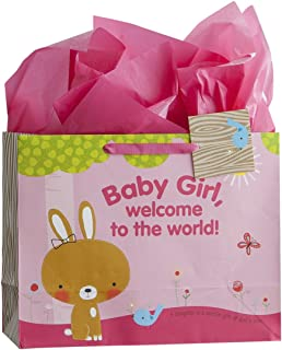 Dayspring Baby Girl Large Gift Bag with Tissue