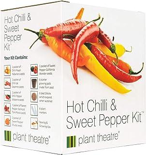 Plant Theatre Gemüsesamen Anzuchtset - Paprika & Chili Samen-Mix - 6 Sorten für Indoor Garten, Balkon, Gewächshaus, Gemüsebeet - Nachhaltige Geschenke