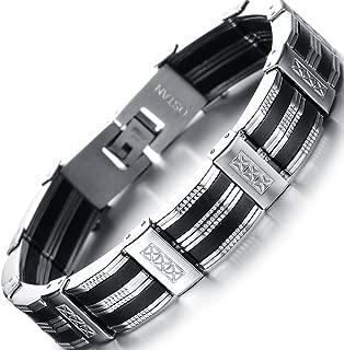 Men's Stainless Steel Chain Link Bracelet