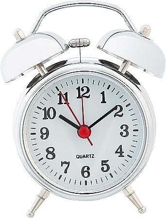 Retro Gold  Metall Mechanische Wecker Uhr Handaufzug Glockenwecker Clock Dekor