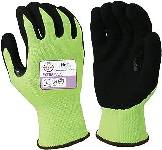 Armor Guys 04-200 (L) 1 Extraflex, 15g, Engineered Yarn, Black HCT MicroFoam Nitrile Palm Coating (One Pair), L, Yellow