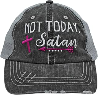 Embroidered Not Today Satan Women's Trucker Hats & Caps