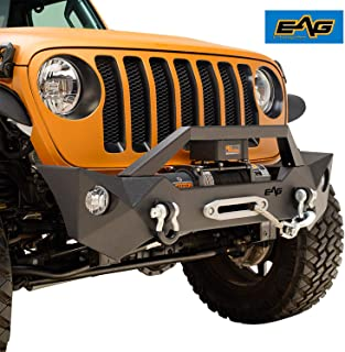EAG Steel Front Bumper with Fog Light Housing Fit for 18-19 Jeep JL Wrangler