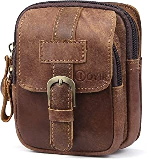 Haibeisi Fashion Unique Mens Genuine Leather Waist Funny Pack Bag Bum Bag for Men Leisure Shopping, Business Trip (Color : Coffee, Size : S)