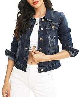 Sponsored Ad - Women's Jean Jacket Stretch Denim Jacket Coats