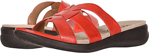 Red Soft Sandal Leather