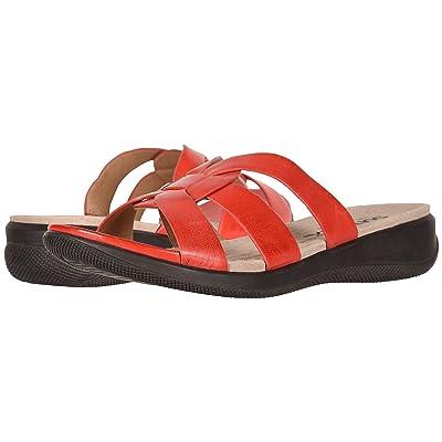 SoftWalk Thompson (Red Soft Sandal Leather) Women