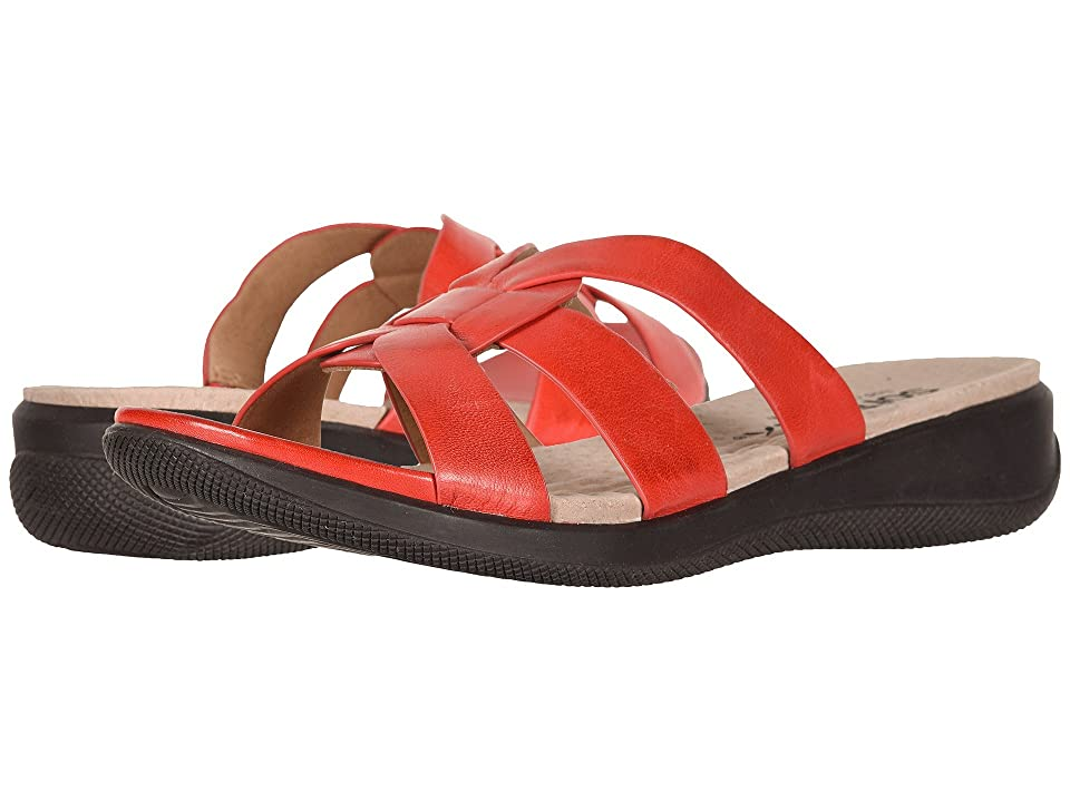 SoftWalk Thompson (Red Soft Sandal Leather) Women