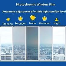RONGSHU Window Tint 50 * 100/200/300/500 cm Blue Car Home Window Tint Glas Film VLT 75% ~ 20% Photochromic Film Summer UV ...