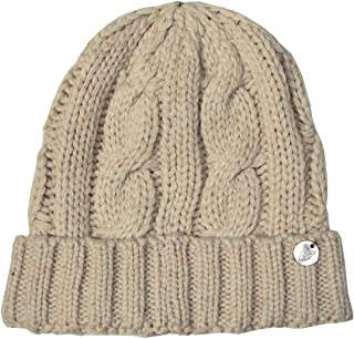 Cable And Rib Knit Hat, Natural Colour