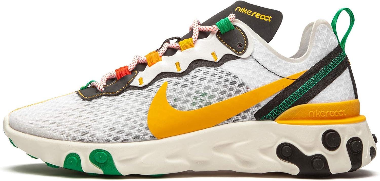 Nike Mens React Element 55 Sunburst Ck9288 100 - Size 8 White