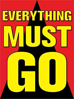 Everything Must Go Retail Display Sign, 18