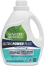 Seventh Generation Ultra Power Plus Liquid Laundry Detergent, Fresh Citrus, 54 Loads, 95 oz