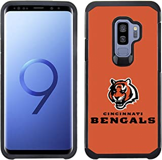Prime Brands Group Textured Team Color Cell Phone Case for Samsung Galaxy S9 Plus - NFL Licensed Cincinnati Bengals