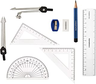 Classmate Invento 9-Pieces Compass & Geometry Kit Math Set for Students with Stainless Steel Carrying Case Mathematical Drawing Instruments Geometry Set Captain America Edition