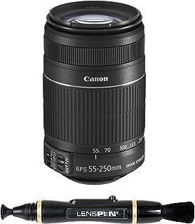 Canon EF-S 55-250mm f/4-5.6 is II Telephoto Zoom Lens for Canon Digital SLR Camera + Lenspen NLP-1 Cleaning Brush (Black)