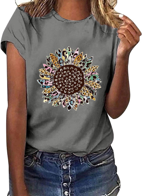 Short Sleeve Shirts for Women,Women Easter Shirt Cute Graphic T Shirt Casual Montain Hiking Tees Short Sleeve Tee Top
