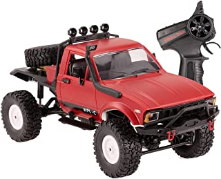 The perseids RC Military Truck, 1/16 Scale Remote Control Heavy Off-Road Car, 2.4Ghz Radio Controlled Offroad Car RC Hobby Car All Terrain Car, Ideal Gift for Kids Youths Adults in Red