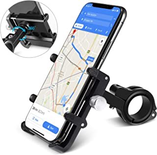homeasy Universal Bike Phone Mount, Bicycle Holder Handlebar Cellphone Adjustable, Fits iPhone Xs XS Max, XR, X, 8   8 Plus, Galaxy S9, Holds Phones from 3.5-7