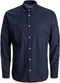 Jack & Jones Men's JJEPLAIN POPLIN SHIRT L/S AU20 NOOS Shirts