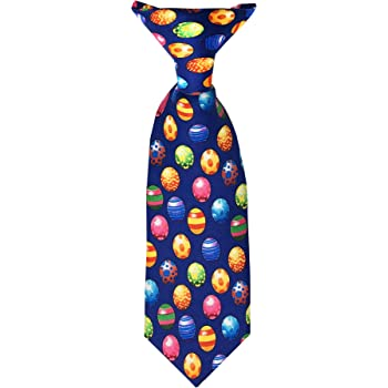Jacob Alexander Baby Boys' Colored Easter Eggs Blue 8 inch Clip-On Neck Tie
