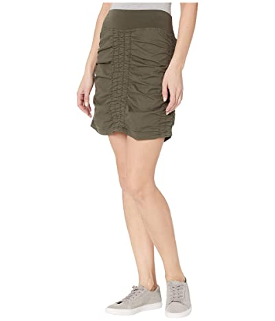XCVI Wearables Solid Trace Skirt (Hex Pigment) Women