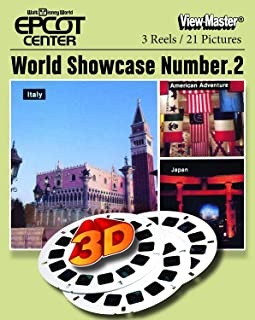 Walt Disney World - Epcot Center World Showcase No.2 - Classic ViewMaster - 3Reel Set - Like New