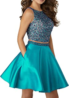 Women's Homecoming 2 pc A Line Prom Party Ball Gown