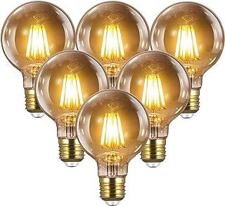 Ampoule E27 Vintage Edison LED - 8W(Égal à 80W) 1000LM / 2700K, YUNLIGHTS 6PCS Rétro G80 Ampoules de Décorative Lampe Fila...