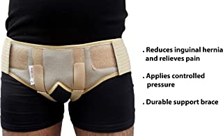 Wonder Care®- Inguinal Hernia Belt for Men post surgery Hernia pain relief Truss Brace for Double Inguinal or Sports Hernia Truss with 2 Removable Compression Pads & Adjustable Groin Straps A-103 -M