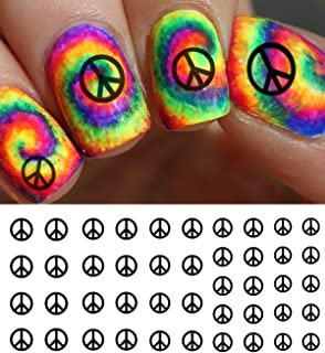 Peace Sign Water Slide Nail Art Decals - Salon Quality!