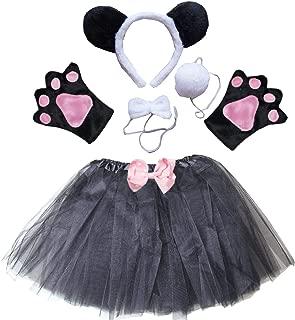 Kids Animal Costume Ears Headband Bowtie Tail Tutu Paws Set