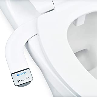 Brondell Bidet - Thinline SimpleSpa SS-150 Fresh Water Spray Non-Electric Bidet Toilet Attachment in White with Self Clean...