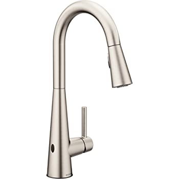 Moen 7864ewsrs Sleek Motionsense Wave Sensor Touchless One Handle High Arc Pulldown Modern Kitchen Faucet Featuring Power Clean Spot Resist Stainless Amazon Com