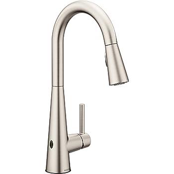 Kohler K 72218 Vs Sensate Touchless Kitchen Faucet Vibrant Stainless Touchless Kitchen Sink Faucets Amazon Com