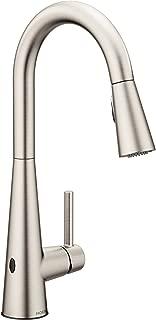 Moen 7864EWSRS Sleek Reflex Motionsense Wave Sensor Touchless One-Handle High Arc Pulldown Modern Kitchen Faucet Featuring Power Clean, Spot Resist Stainless