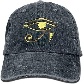 Village hope Egyptian Ibis Ankh Horus Eye Denim Hat Adjustable Women Baseball Hat